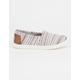 TOMS Mini Stripe Textile Girls Classic Slip-Ons