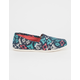 TOMS Blanket Print Womens Canvas Classic Slip-Ons