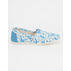 TOMS Womens Foxes Canvas Classic Slip-Ons