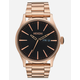 NIXON Sentry SS Rose Gold Watch