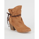 QUPID Wrap Cord Womens Booties