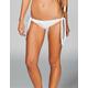 DAMSEL Solid Fringe Tie Bikini Bottoms