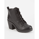 SODA Lace Up Womens Heeled Combat Boots