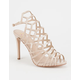 DELICIOUS Cage Cutout Womens Heels