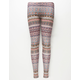 FULL TILT Linear Boho Girls Leggings