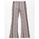 FULL TILT Distressed Floral Girls Flare Pants