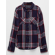 FULL TILT Rayon Girls Plaid Shirt