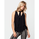 MIMI CHICA Tie Neck Womens Top
