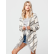 FULL TILT Striped Fringe Womens Wrap