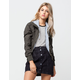 FULL TILT Twill Knit Womens Bomber Jacket