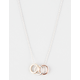 FULL TILT 3 Ring Dainty Necklace