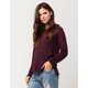 FULL TILT Essential Marled V-Neck Womens Hoodie