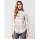 FULL TILT Neutral Rayon Womens Plaid Shirt