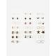 FULL TILT 20 Pairs Pearl Stone Earrings