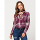 FULL TILT Classic Plaid Womens Flannel Shirt