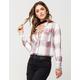 FULL TILT Rayon Grid Womens Plaid Shirt