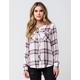FULL TILT Fig Womens Plaid Shirt