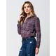 FULL TILT Washed Plaid Womens Flannel Shirt