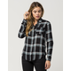 FULL TILT Classic Rayon Womens Plaid Shirt