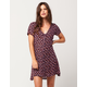FULL TILT Floral Button Front Dress