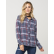 FULL TILT Washed Americana Womens Plaid Shirt