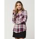 FULL TILT Burgundy Womens Plaid Shirt