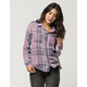 FULL TILT Washed Rose Womens Flannel Shirt