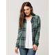 FULL TILT Forest Green Womens Plaid Shirt