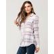 FULL TILT Tri Plaid Womens Flannel Shirt