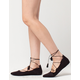 CITY CLASSIFIED Lace Up Tassel Womens Flats