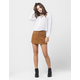 RSQ Lace Up Corduroy Skirt