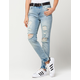 ALMOST FAMOUS PREMIUM High Rise Destructed Womens Mom Jean