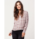 VOLCOM Plaidazzle Womens Plaid Shirt