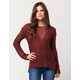 FULL TILT Mix Stitch Womens Pullover Sweatshirt