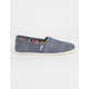 TOMS Chambray Womens Classic Slip-Ons