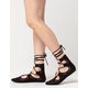 CITY CLASSIFIED Lace Up Laser Cut Womens Flats