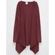 FULL TILT Essential Ribbed Girls Hooded Wrap Sweater
