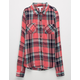 FULL TILT Rayon Girls Plaid Shirt