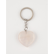 MINERAL HEART Rose Quartz Keychain