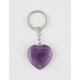 MINERAL HEART Amethyst Keychain