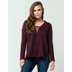 FULL TILT Essential Marled Lace Up Womens Hoodie