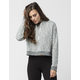 FULL TILT Essential Marled Cropped Womens Hoodie