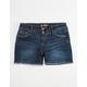 SCISSOR Fray Hem Girls Denim Shorts