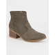 CITY CLASSIFIED Faux Suede Perforated Womens Booties