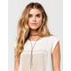 FULL TILT Suede Layered Leaf Necklace