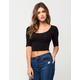 BOZZOLO Cropped Elbow Sleeve Womens Tee