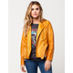JOU JOU Belted Womens Vegan Leather Jacket
