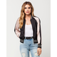 FLYING TOMATO Color Block Womens Bomber Jacket
