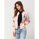TEA & CUP Patch Womens Bomber Jacket