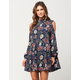 ANGIE Cutout Floral Dress